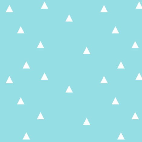 paradise_blue_triangle_large fabric by grubbeekids on Spoonflower - custom fabric