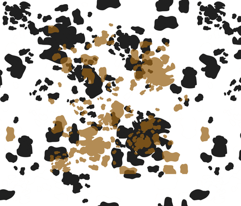 Brown, Black and White Cowhide Spots, Dairy Animals, Farm Animal Print, Farmhouse Style fabric by galleryinthegardendesigns on Spoonflower - custom fabric