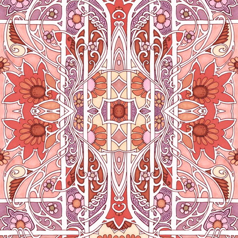Autumn Goes Baroque fabric by edsel2084 on Spoonflower - custom fabric