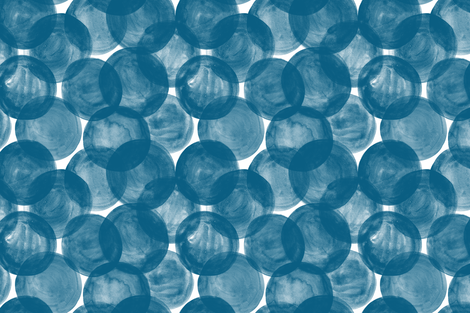 Huge Watercolor Dots M+M Indigo by Friztin fabric by friztin on Spoonflower - custom fabric