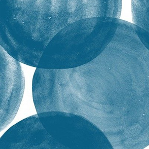 Huge Watercolor Dots M+M Indigo by Friztin
