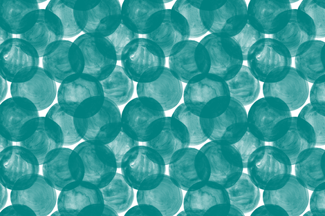 Huge Watercolor Dots M+M Teal by Friztin fabric by friztin on Spoonflower - custom fabric