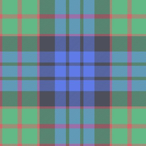 "Fletcher of Dunans tartan, 6"" faded fabric by weavingmajor on Spoonflower - custom fabric"