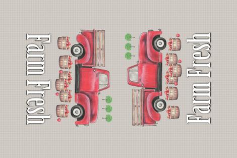 Old Red Truck  Farm Fresh Tea Towel fabric by twix on Spoonflower - custom fabric