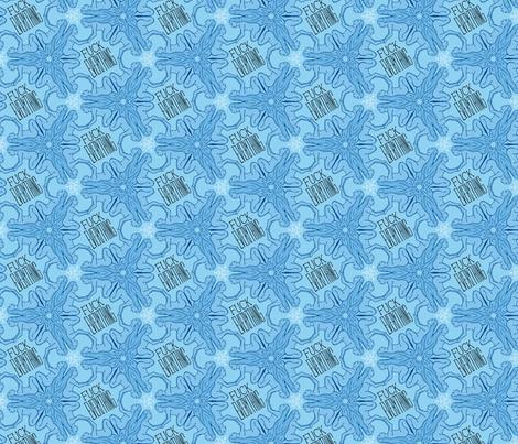 Fuck Everything - blue women fabric by secretbean on Spoonflower - custom fabric