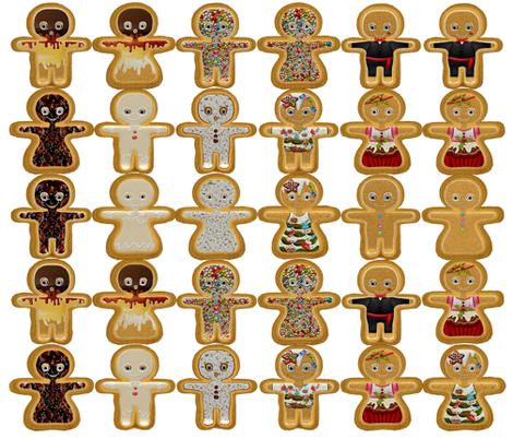 spoon_gingerbread fabric by fancy_fairy on Spoonflower - custom fabric