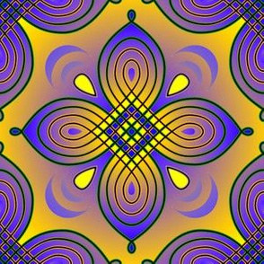 Looping Quatrefoil purple