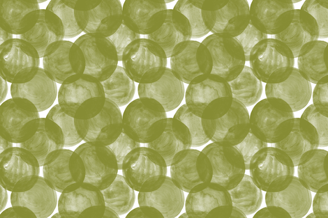 Huge Watercolor Dots M+M Grass by Friztin fabric by friztin on Spoonflower - custom fabric