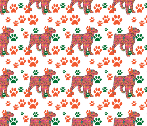 brit_and_pawprints fabric by dogdaze_ on Spoonflower - custom fabric