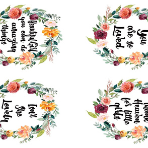 "54"" Watercolor Floral Wreathes"