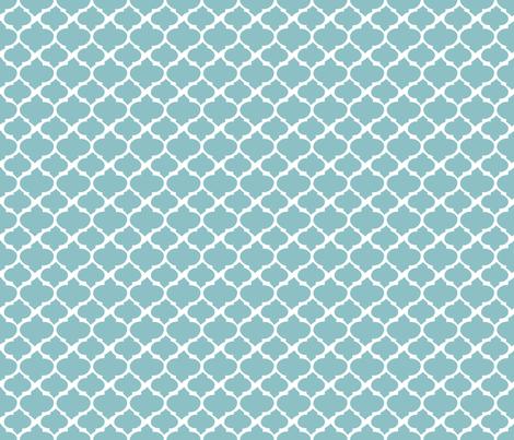 Teal Quatrefoil fabric by longdogcustomdesigns on Spoonflower - custom fabric