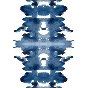 Double XL Indigo Ink Blot
