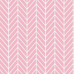 Pink Herringbone