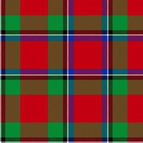 "Sinclair / Logan tartan, 6"" modern colors"