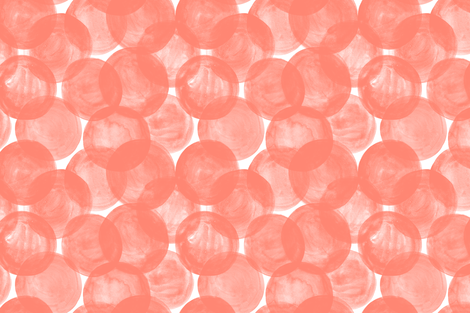 Huge Watercolor Dots M+M Coral by Friztin fabric by friztin on Spoonflower - custom fabric