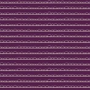 frilly stripe lavender/purple