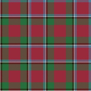 "Sinclair / Logan tartan, 4"" muted"