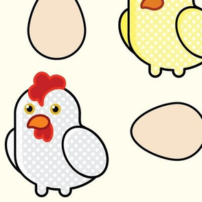 Pop Art Chickens - (9in)