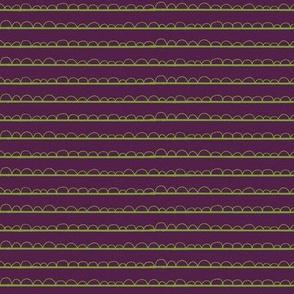 frilly stripe greenery/purple