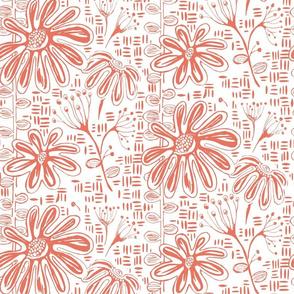 Suzy Sunshine Block Print Botanical