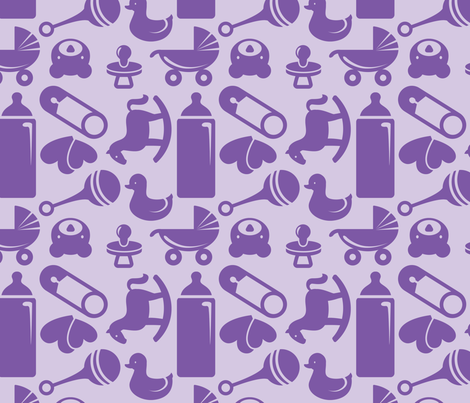 Nursery 8in purple fabric studiofibonacci spoonflower for Purple nursery fabric