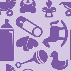 Nursery - 8in (purple)