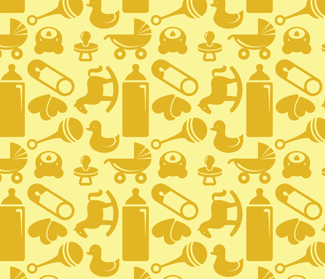 Nursery 8in yellow fabric studiofibonacci spoonflower for Yellow nursery fabric