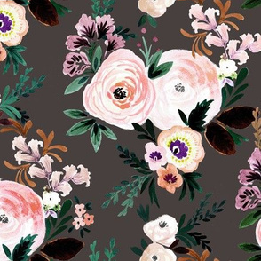 Victorian Floral brown
