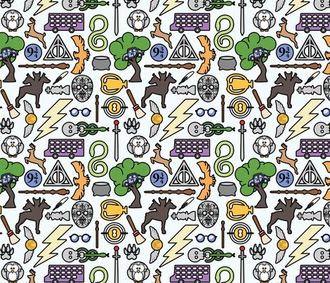 Specialis Revelio - 8in fabric by studiofibonacci on Spoonflower - custom fabric