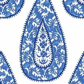 Tear Drop Delft Blue