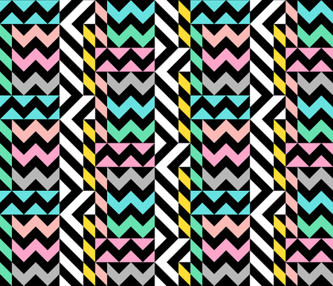 Memphis Zigzag Small fabric by elramsay on Spoonflower - custom fabric