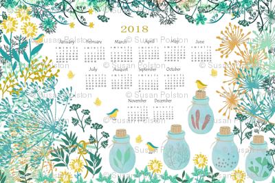Good Herbs Tea Towel Calendar 2018