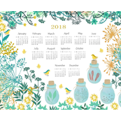 Good Herbs Tea Towel Calendar 2018