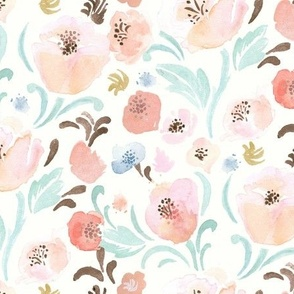 peachy blush blooms