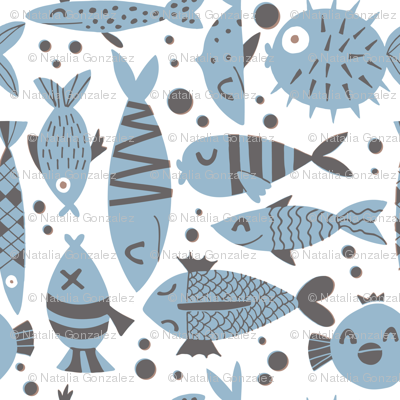 Fishes neutral colors