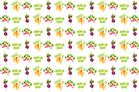 Veggie Mix A-Lot fabric by sweetseasonsart on Spoonflower - custom fabric