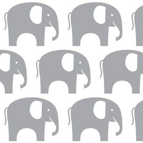 simple grey elephant