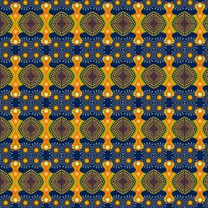boho circus blue in polka dot