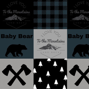 I love you to the mountains - Wholecloth - spruce plaid