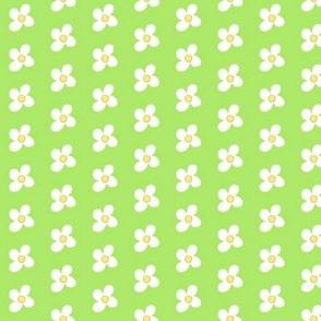Bee-u-tiful bees - Green w/ white flowers