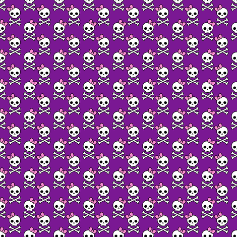 Cute Skulls Micro fabric by elladorine on Spoonflower - custom fabric