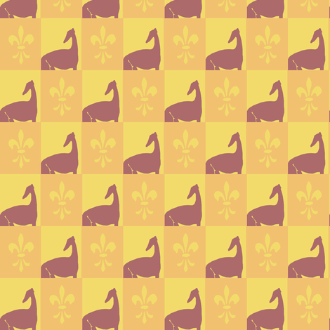 sighthound mosaik, yellow, orange fabric by nikitasaami on Spoonflower - custom fabric