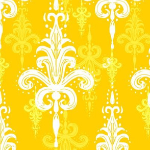 Golden honey damask