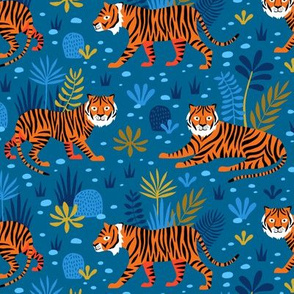 Tiger Jungle blue