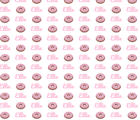Donut - PERSONALIZED pink Ellie fabric by drapestudio on Spoonflower - custom fabric