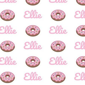 Donut - PERSONALIZED pink Ellie