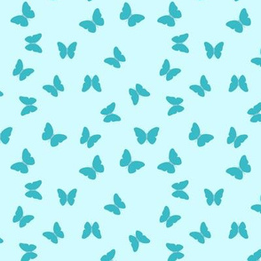 Simple butterflies aqua