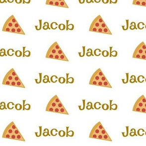 Pizza - PERSONALIZED brown Jacob