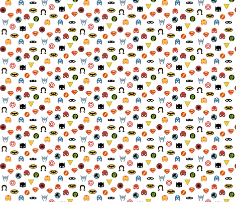 Super Hero Masks and Shields fabric by twix on Spoonflower - custom fabric