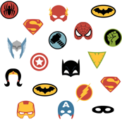Super Hero Masks and Shields